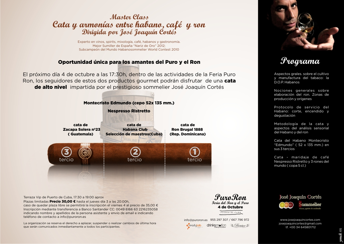 flyer habanos ron